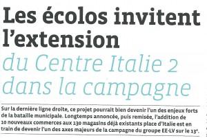 Extension Italie 2 - article 13 du mois